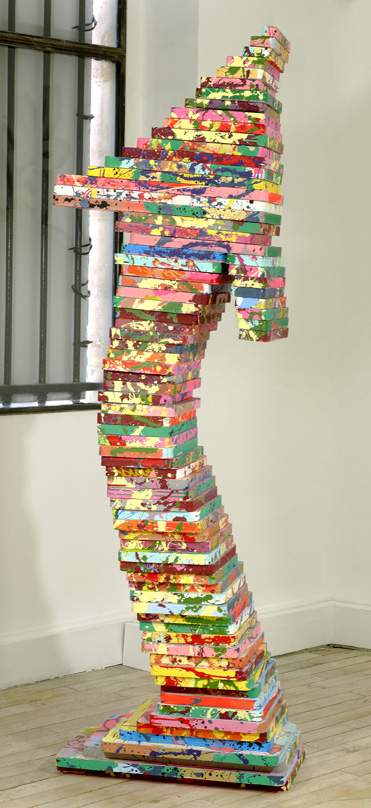 JonOne,  Arrow , 2011, - 209 x 68 x 42 cm - Courtesy the artist and Rabouan Moussion Paris