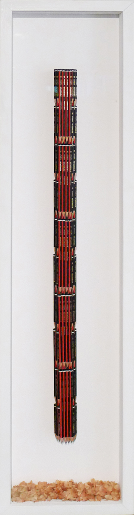 Luke Newton, 203 Staedlers, 2012, 119,5x28 cm - Courtesy the artist and Rabouan Moussion Gallery Paris