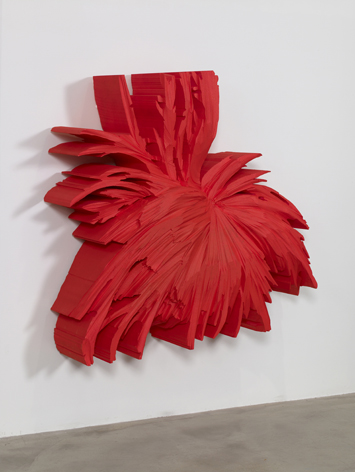 Kirill Chelushkin, Red Andy , 2009, polystyrene, 120 x 120 x 40 cm - Courtesy the artist and Rabouan Moussion Gallery Paris