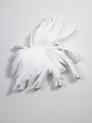 Kirill Chelushkin, White Andy, polystyrène, 2009, 120 x 120 x 40 cm - Courtesy the artist and Rabouan Moussion Gallery Paris