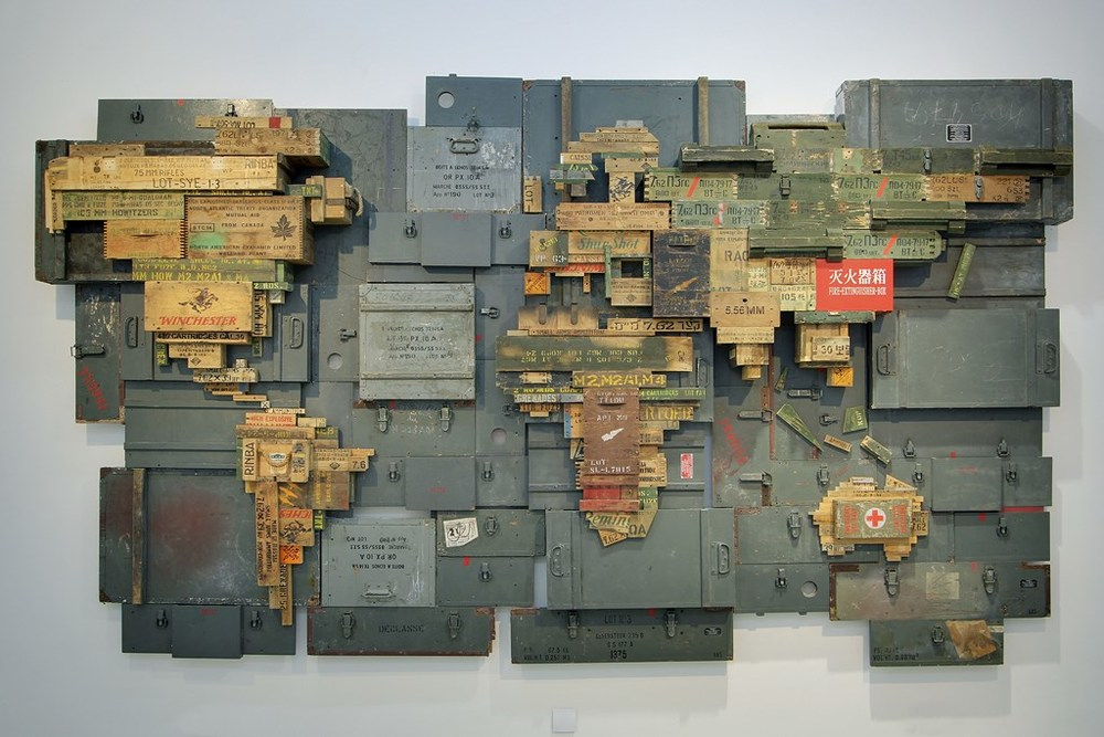 MAP II, 2015, 227x398x30 cm, Caisses à munitions militaires.jpg