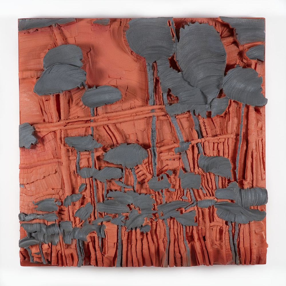 Kirill Chelushkin, Sans Titre, Peinture sur polystyrène sculpté 2016 - 120 x 120 x 20 cm - Courtesy the artist and Rabouan Moussion Gallery Paris
