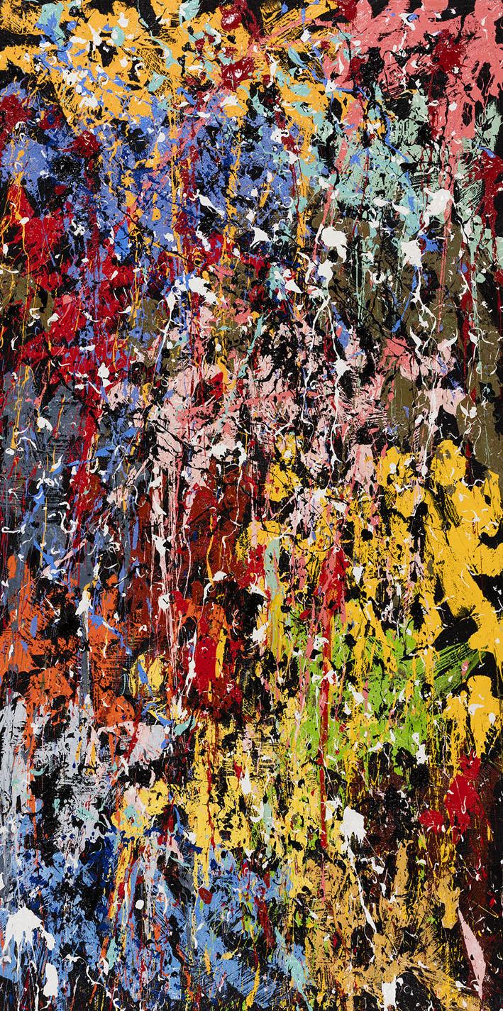 Come Ups, 2016, Huile sur toile, 240 x 120 cm