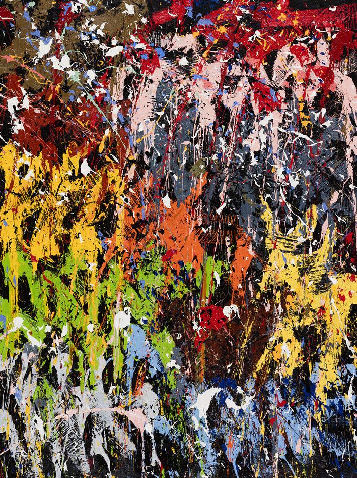 Les Walkyries, 2016, Huile sur toile, 160 x 120 cm