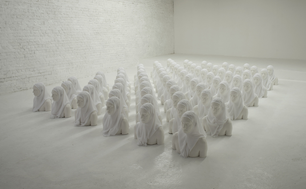 Mehdi-Georges Lahlou, Installation 72 Vierges, 2012 - Courtesy the artist and Rabouan Moussion Gallery Paris