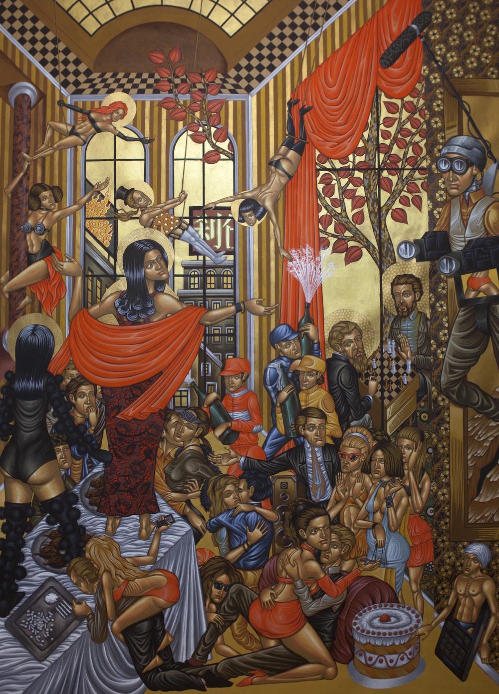 Stelios Faitakis_Untitled_2012_mixed media on canvas_260x190cm_Courtesy The Breeder Athens copy.jpg