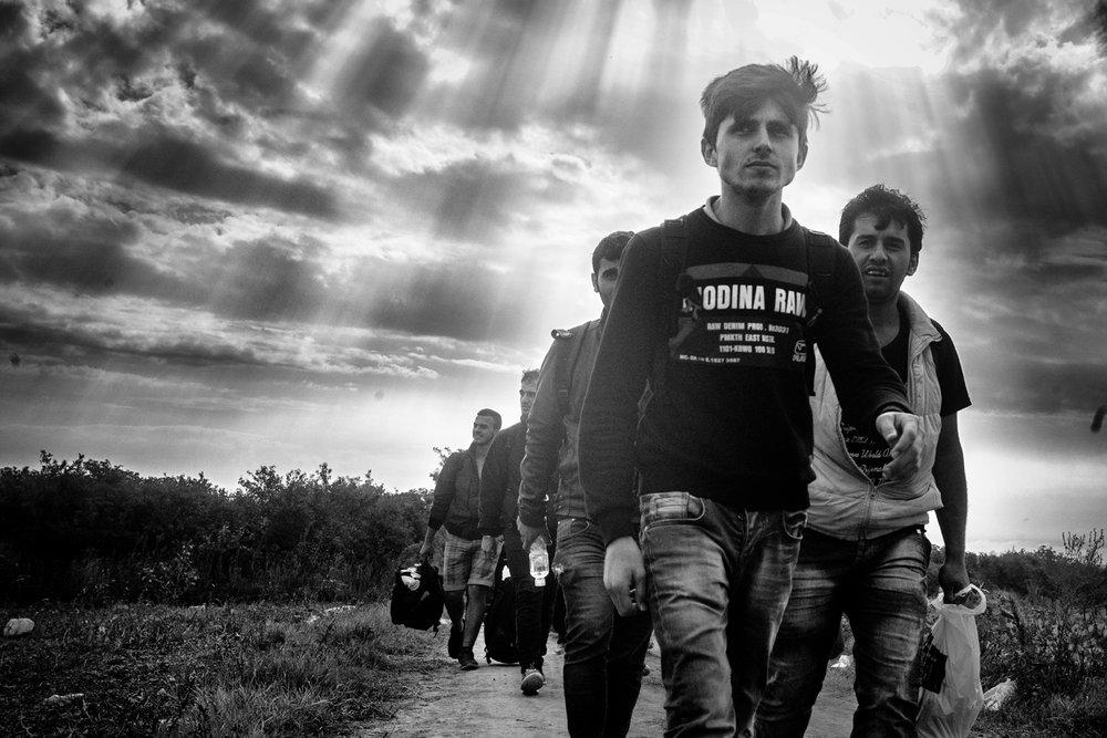 Louis Jammes, Le chemin de l'exode Sid, frontière serbo-croate, Serbie, 2015