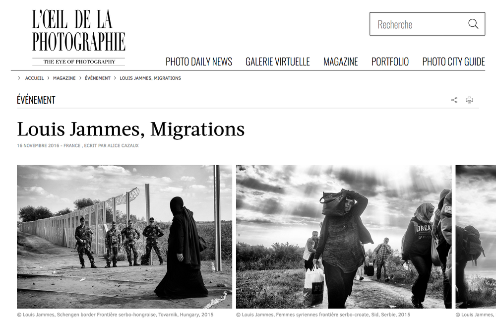 Louis Jammes, L'Oeil de la Photographie, Novembre 2016