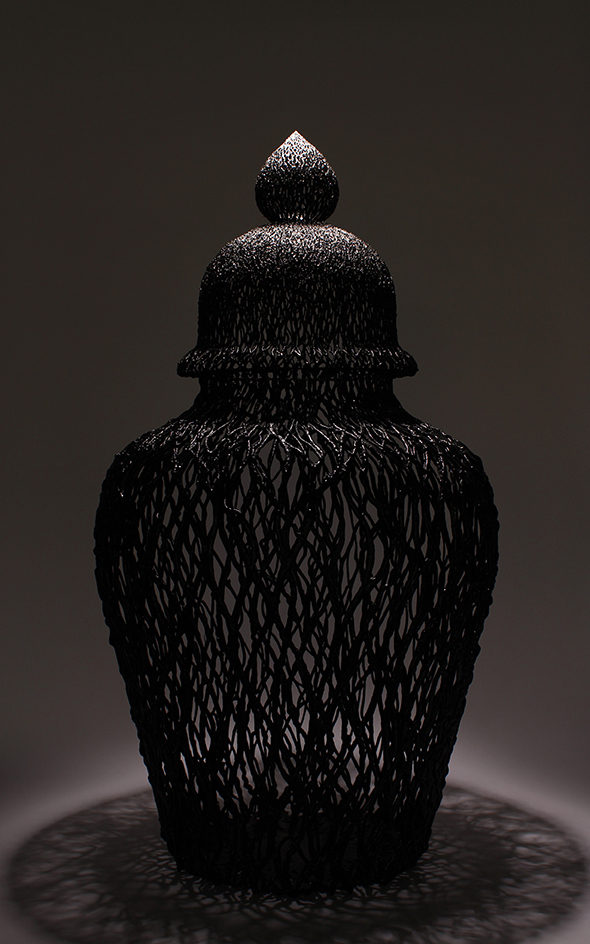 Big Black, 2014, 122cm  Courtesy the artist and Rabouan Moussion Gallery Paris