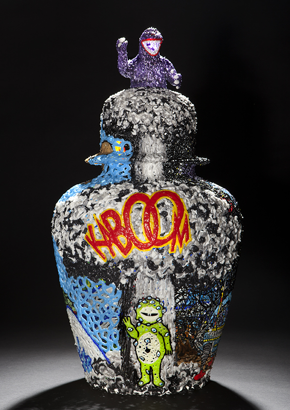 Kaboom, 2011, 57 cm  Courtesy the artist and Galerie Rabouan Moussion