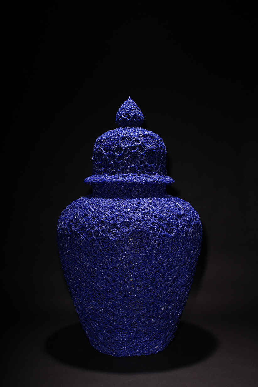 Yves Blue, 2014, 83 cm  Courtesy the artist and Galerie Rabouan Moussion