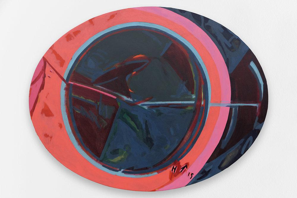 Astre n.II, 2015, Acrylique sur toile, 89x111,5 cm