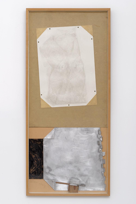 Sans Titre, 1994, Technique mixte, 147,5x63,5 cm