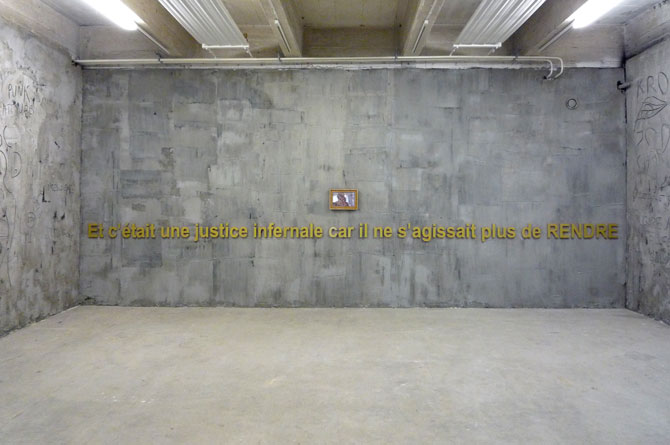 1985 Art Space # 6, exhibited in Centre d'art Passerelle, Brest 1985 Courtesy the artist and Rabouan Moussion Gallery