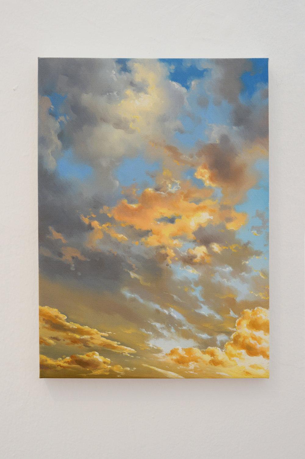 Cielo (Dafen), Huile sur toile, 33 x 46 cm, 2017