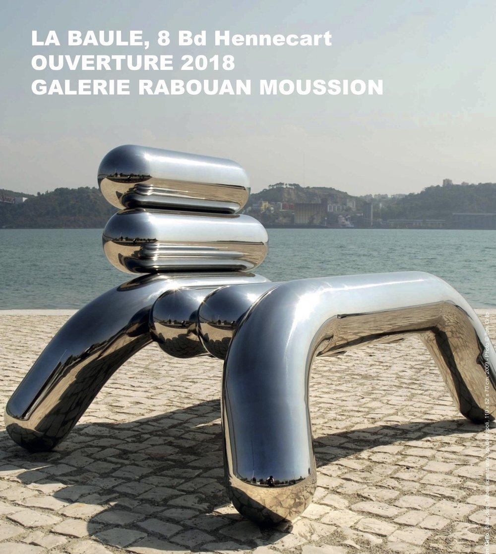 Bibendum  , 2009, Fauteuil, Design  Toni Grilo  Tubes acier tourné, soudé et poli, 110 x 82 x 70 cm, Édition de 12 exemplaires, 2 E.A. et 1 prototype Photographie © Toni Grilo