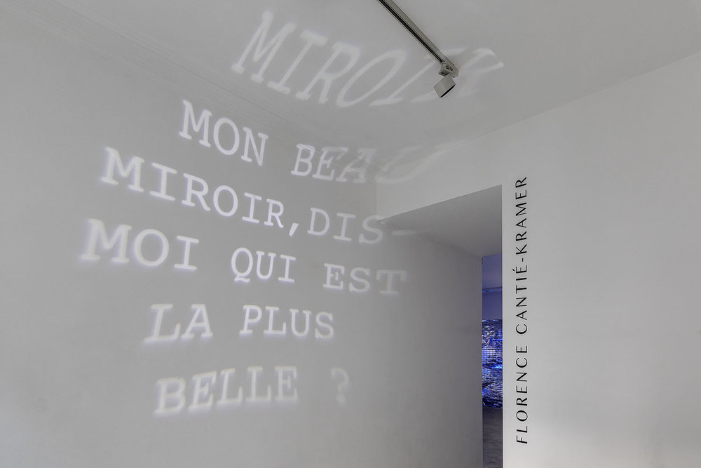 MIROIR MON BEAU MIROIR, 2018  SNCF vintage mirror, projection diametre 135 cm  Courtesy the artist and Rabouan Moussion Gallery Photo Credit : Romain Darnaud