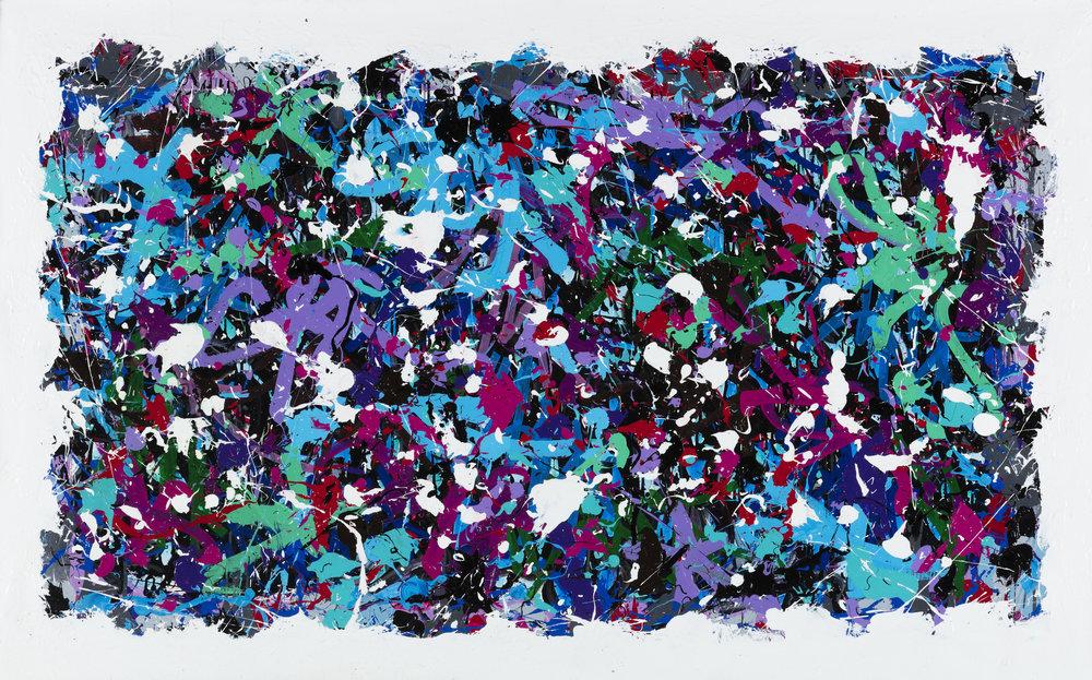 31523 - 2017-Floods-N-Storms, acrylique et encre sur toile, 125 x 205 cm_JonOne_2017_Repro_274.jpg