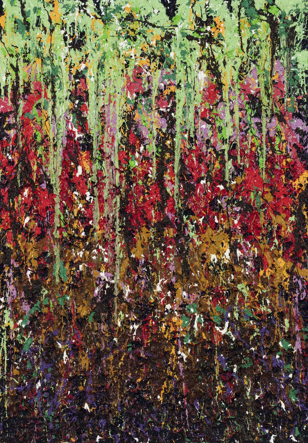 Rain forest of Amazon,2018-huile sur toile, 140 x 200 cm (Çpaisseur chÉssis 5 cm)_JonOne_2018_Repro_168.jpg