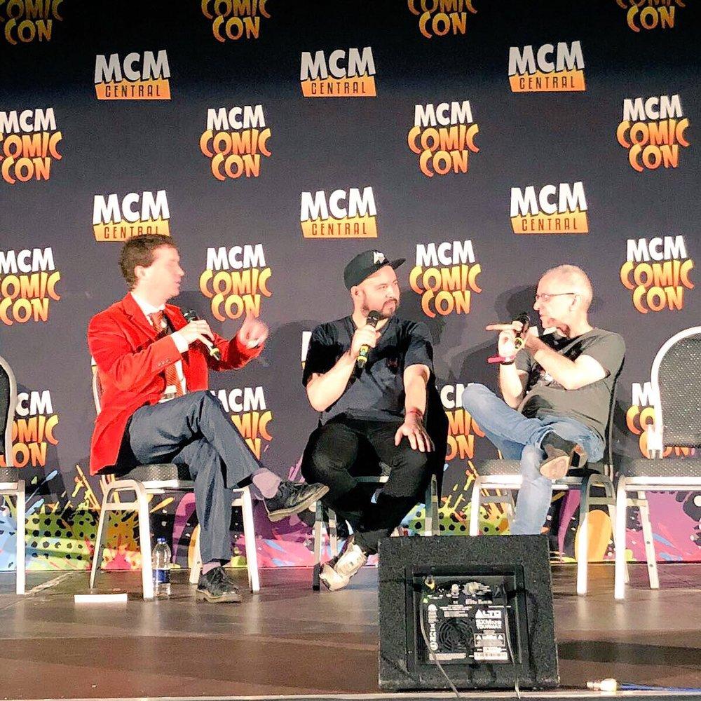 Grady Hendrix & Shaun Hutson joins Jed onstage @ MCM Comic Con 2017 in London