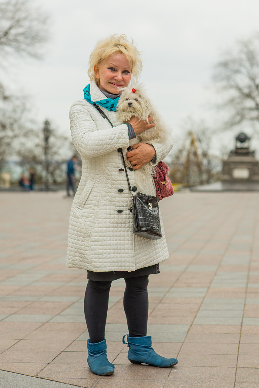Dogs and accessories. Odessa, Ukraine.