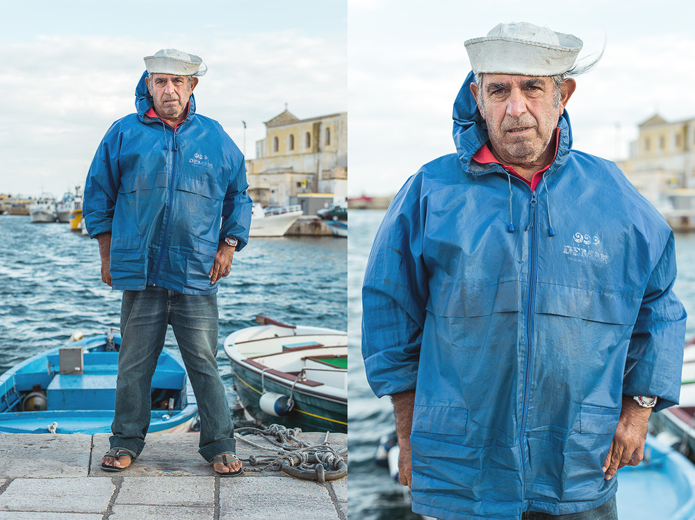 Fishermen from Gallipoli, Italy.