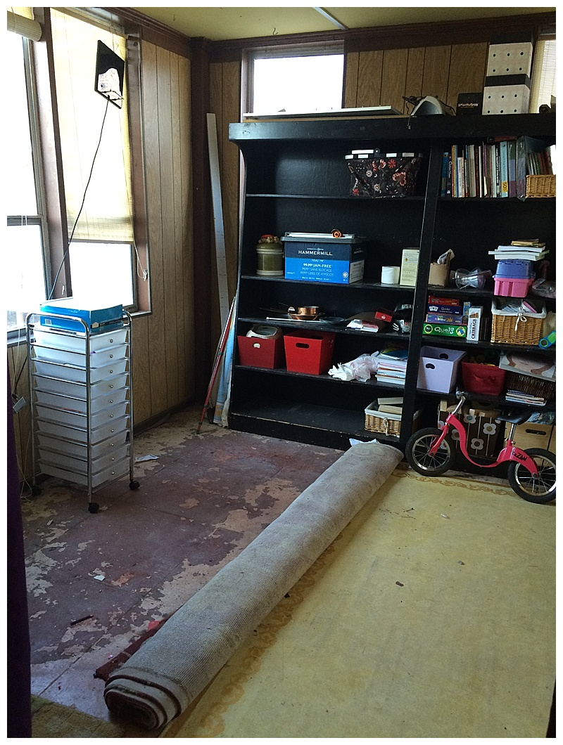 enclosed side porch Homeschool room