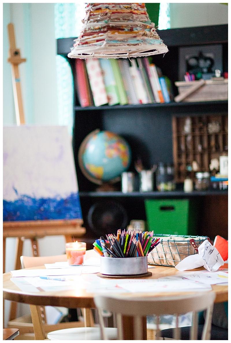 homeschool room and table