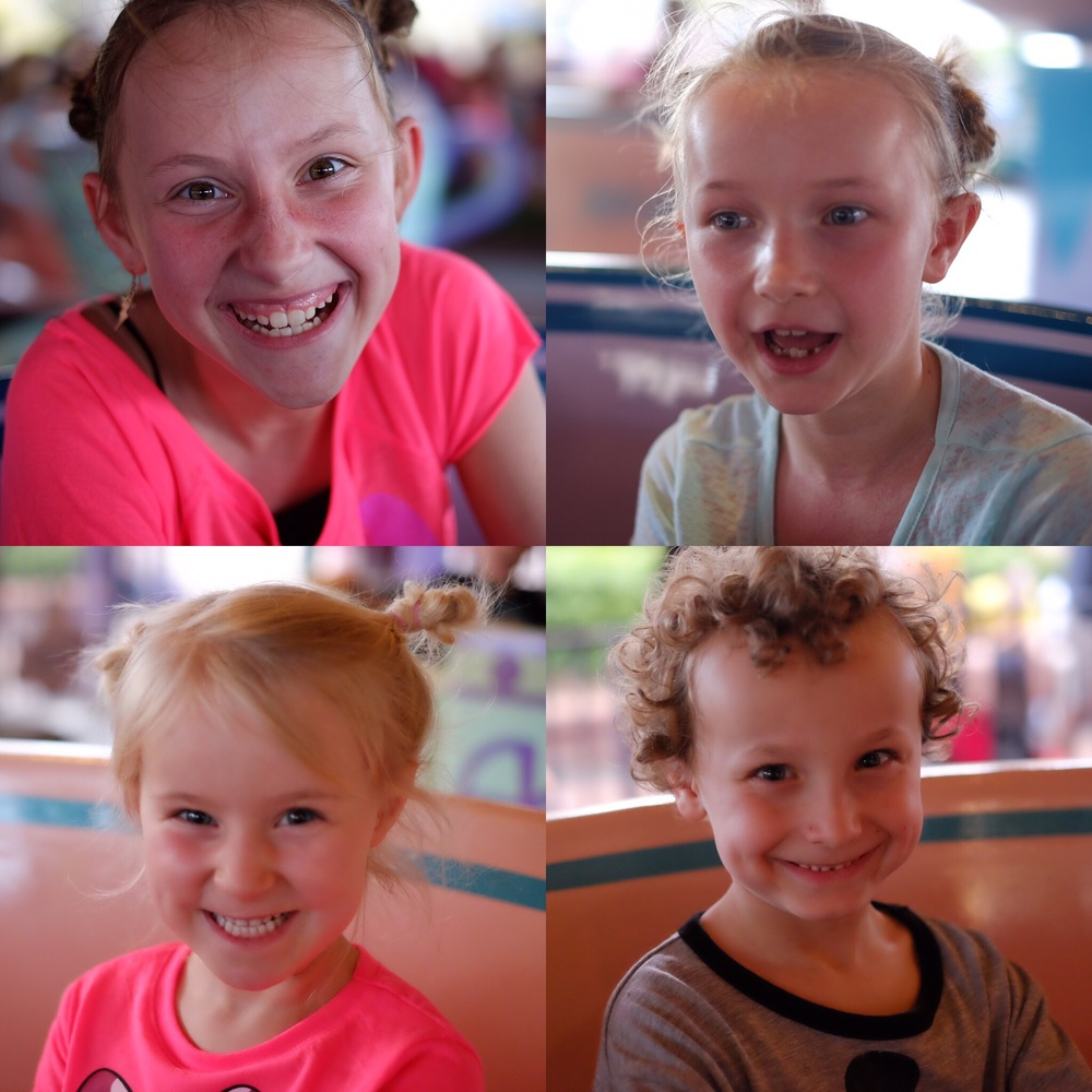Four Tea Cup Faces!!! We rode twice.