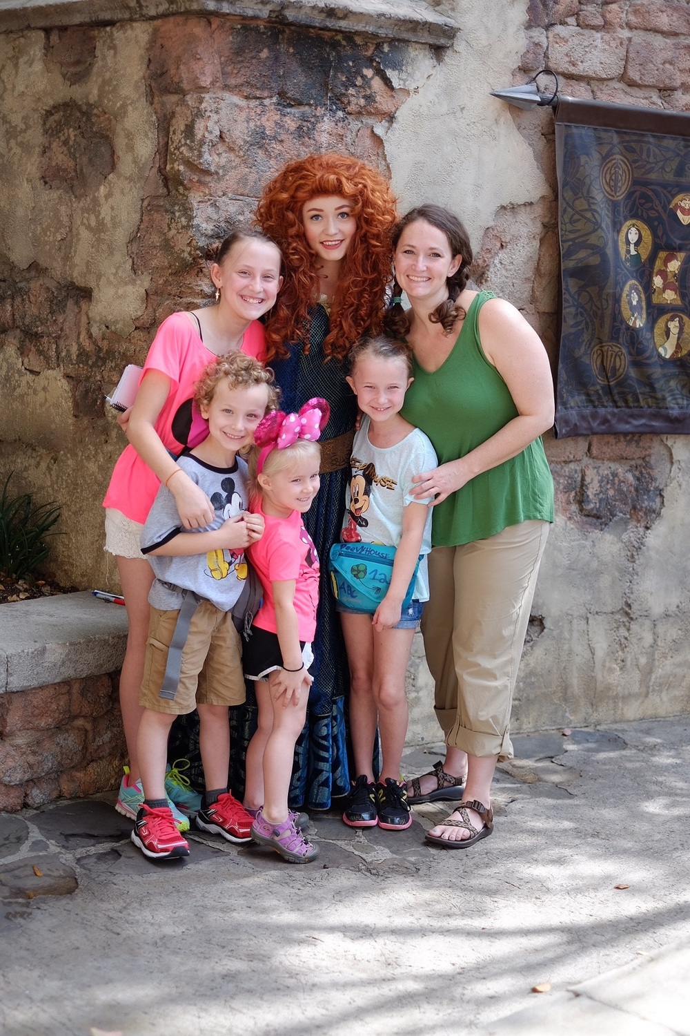 Merida and I talked curly hair issues and how people are always trying to take a brush to our mops!