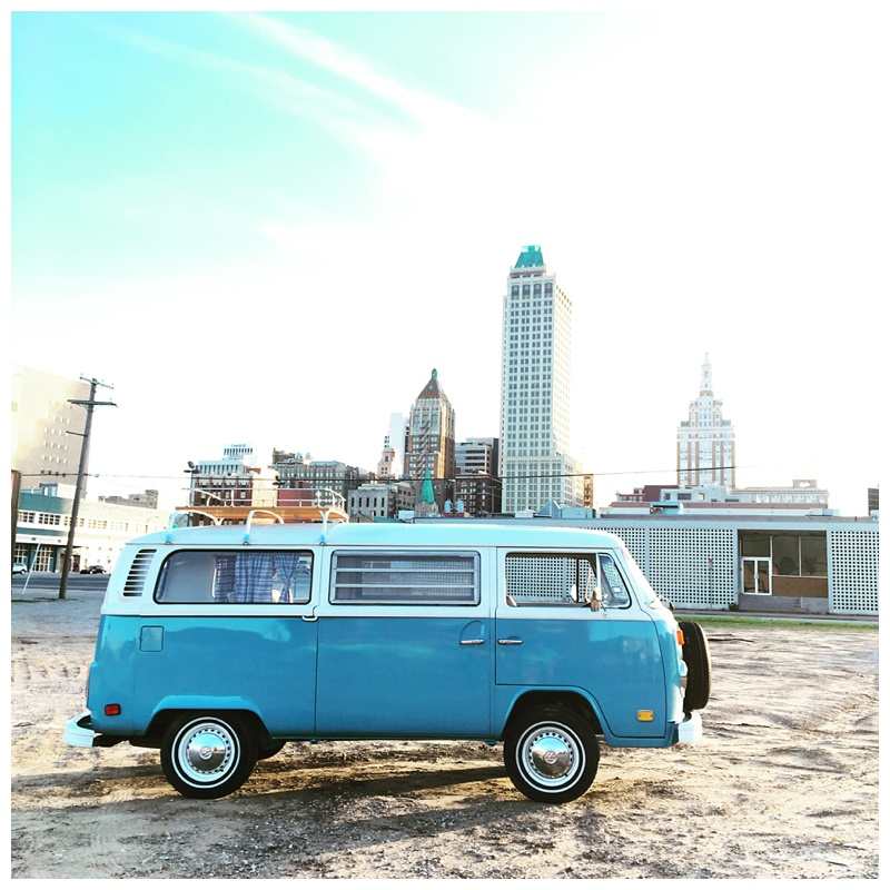 Tulsa Oklahoma skyline Vintage Volkswagon Mobile Photo booth