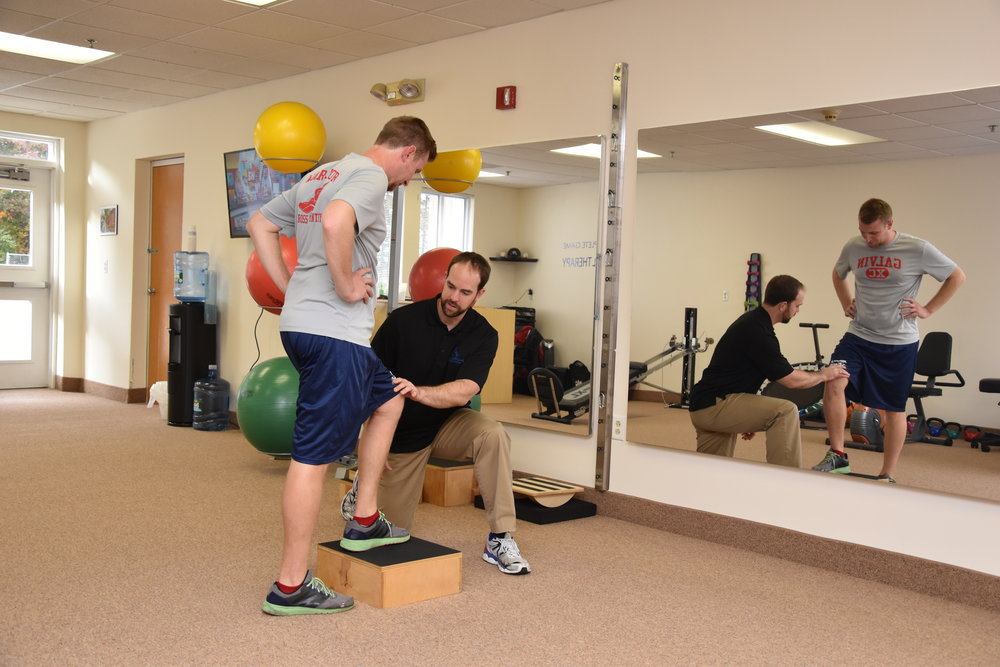 Greg Crossman trains a youth, high school athlete at Complete Game Physical Therapy in Tewksbury, MA
