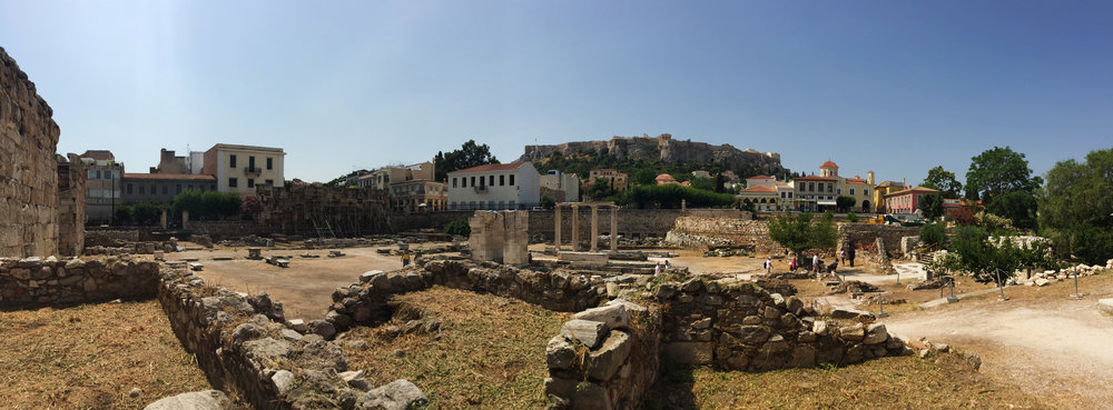 Site of Hadrian's Library | Athens, Greece