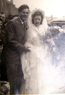 My aunt Joyce ( Pike)  and Fred Wakeman on their wedding day. They lived on the corner of Nineveh Rd