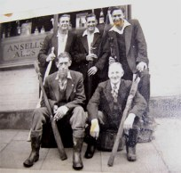 Probably members of the British Legion fishing club. My dad Fred Lowe is on the left at the back and I think the man on the right at the back is George Westwood of Talbot St.  Anybody recognise the others?