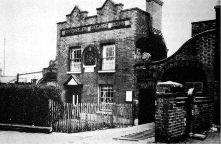 "The original ""Cottage Baths"" in Bacchus Road"