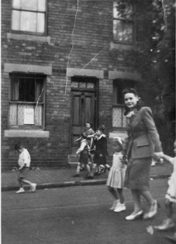 Anniversary parade from St Chrysostom's Church about 1947.