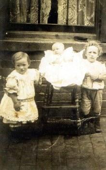 TAKEN AROUND 1912, IN THE BACK YARD OF 103 JAMES TURNER STREET,