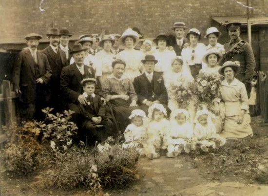 Charlie Wood and Ada Bamford's Wedding 1915                            95 James Turner Street, Winson Green, Birmingham