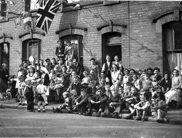 VE party in PEEL STREET, 1945.