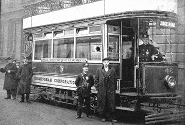 LODGE ROAD No32 TRAM photo taken at the terminus in the city but Wellington Street was where its journey began