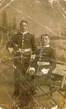 `Grandad' George Clark (standing) C. 1916                 Aged approx. 21 years old.       Denise Elves                    deesue22@gmail.com