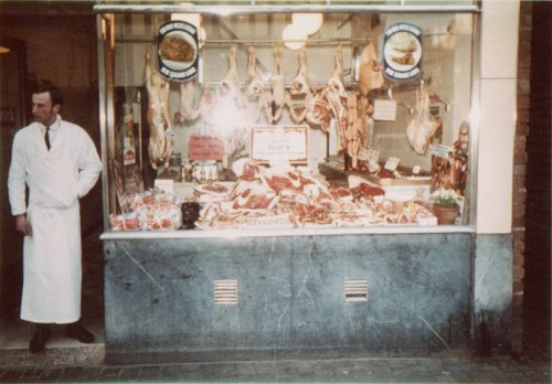 Keith Wasssell outside his Butcher's shop