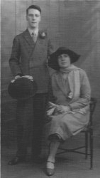 Mr and Mrs Atkins wedding photograph - about 1920's