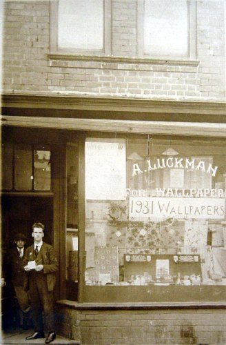 Luckman's Wallpaper Shop   around the same time 1930s