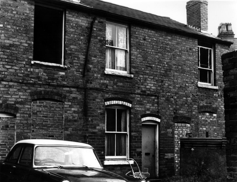 Back of no 56 Wellington Street Just before demolition 27/06/1972 -