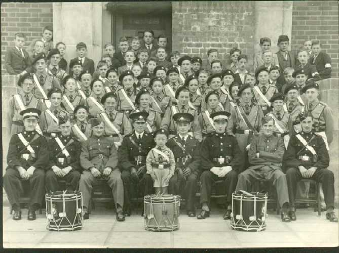 CHURCH LADS BRIGADE AT ST CUTHBERTS CHURCH MID 1930S