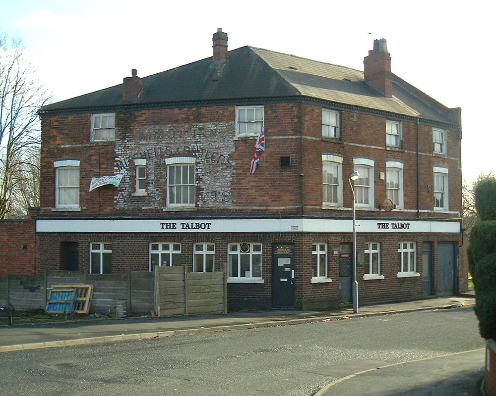 THE TALBOT pub in 2005. DEMOLISHED around 2012