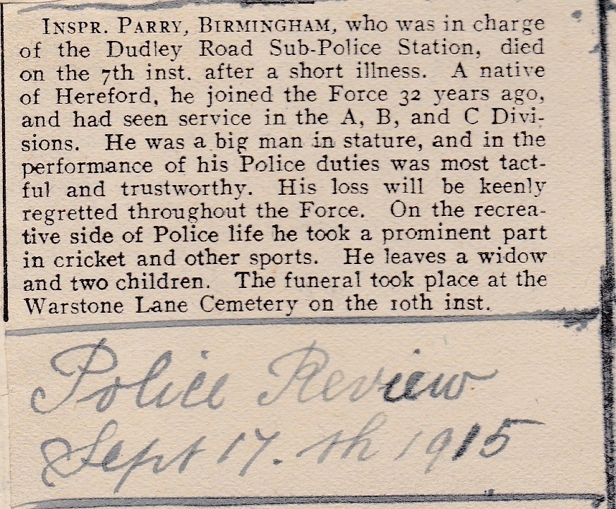 POLICE REVIEW 17 SEPTEMBER 1915