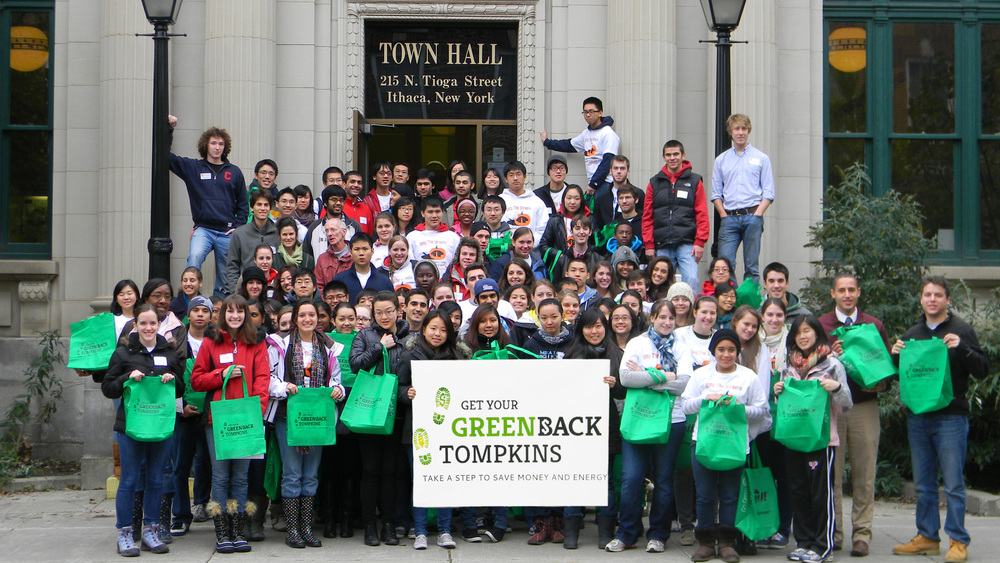Volunteering for Get Your GreenBack to distribute 10,000 bags with energy-saving info and stuff throughout the county